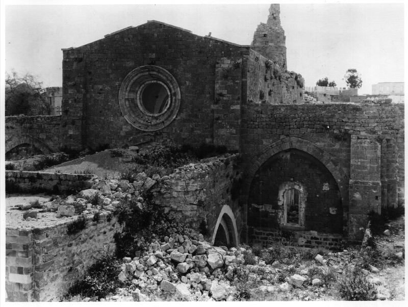 Great Mosque of Gaza (former church), west side
