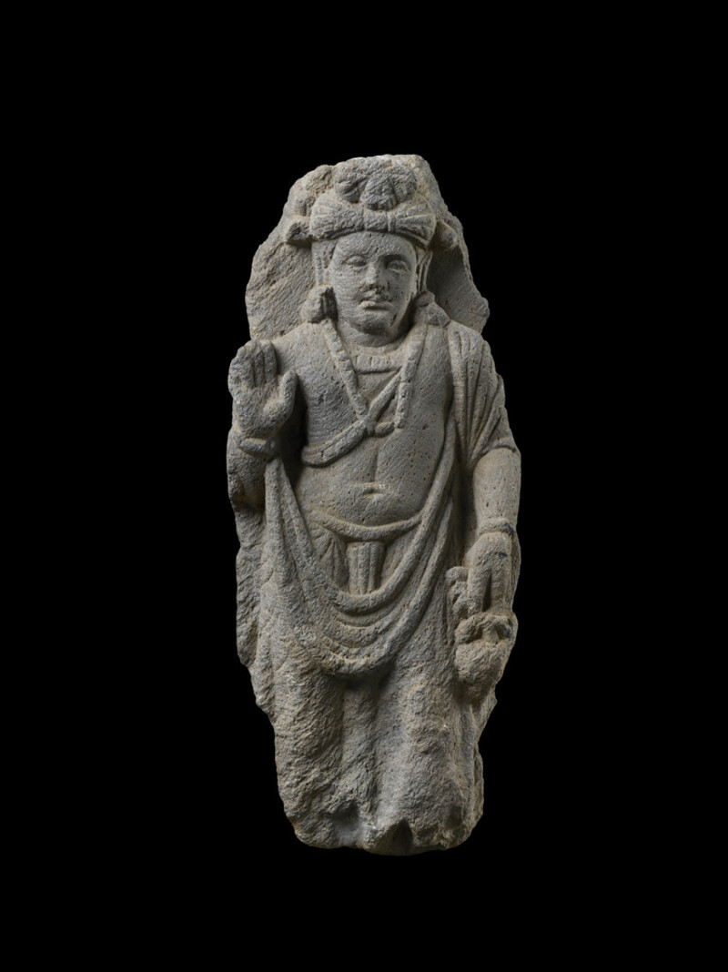 Relief fragment depicting a standing bodhisattva (EAOS.20)