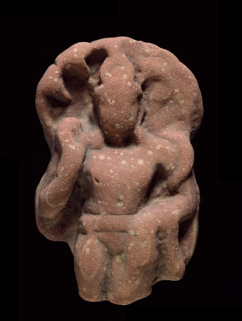 Standing figure of a naga, or serpent deity