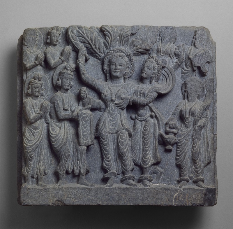 Relief depicting the birth of the Siddhartha Buddha (EAOS.3, front        )