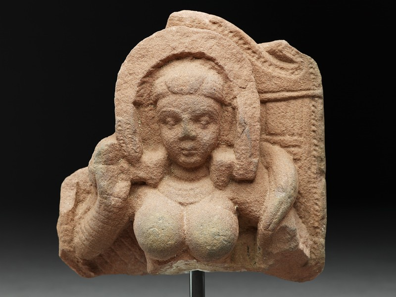 Fragment of a stele with goddess (EAOS.34, front         )