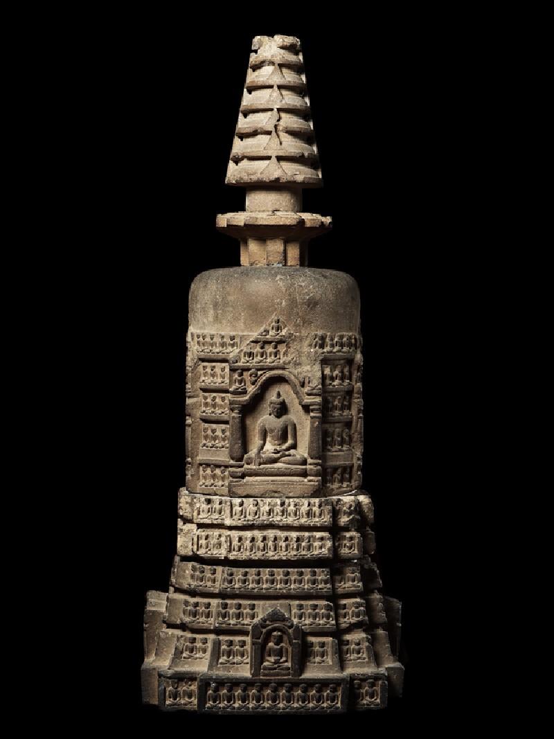 Votive stupa (EAOS.59, side         )