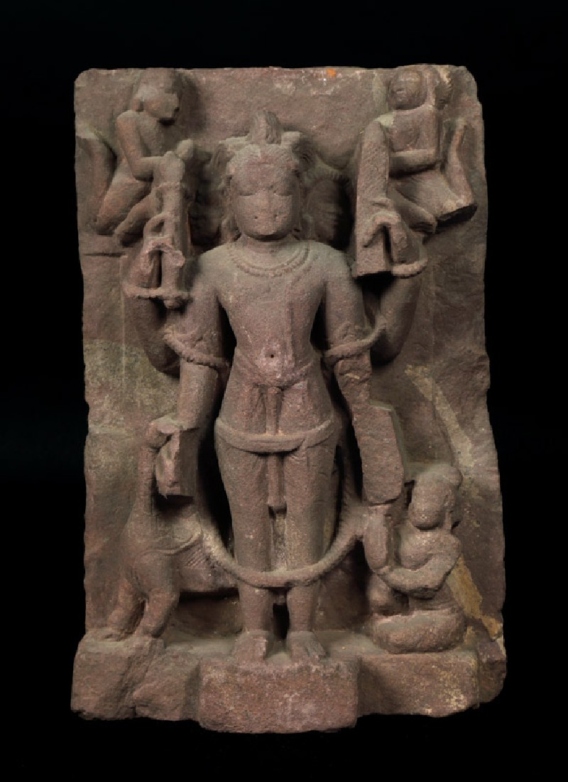 Figure of Brahma with a hamsa, or goose (EAOS.62, front         )