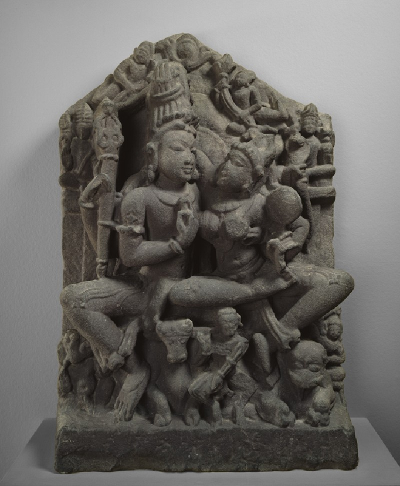 Figure of Shiva and Parvati (Uma-Maheshvara) (EAOS.70, front         )