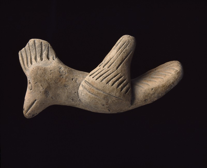 Terracotta figure of a bird