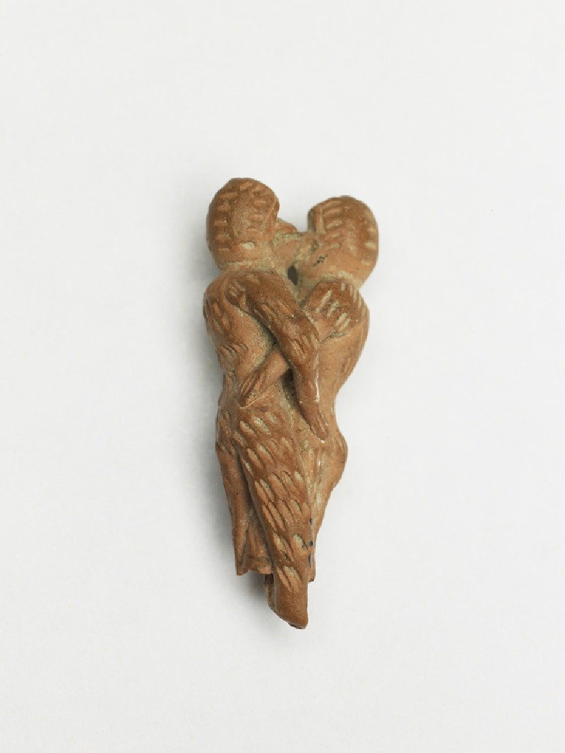 Terracotta figure of monkeys embracing (EAX.12, oblique        )