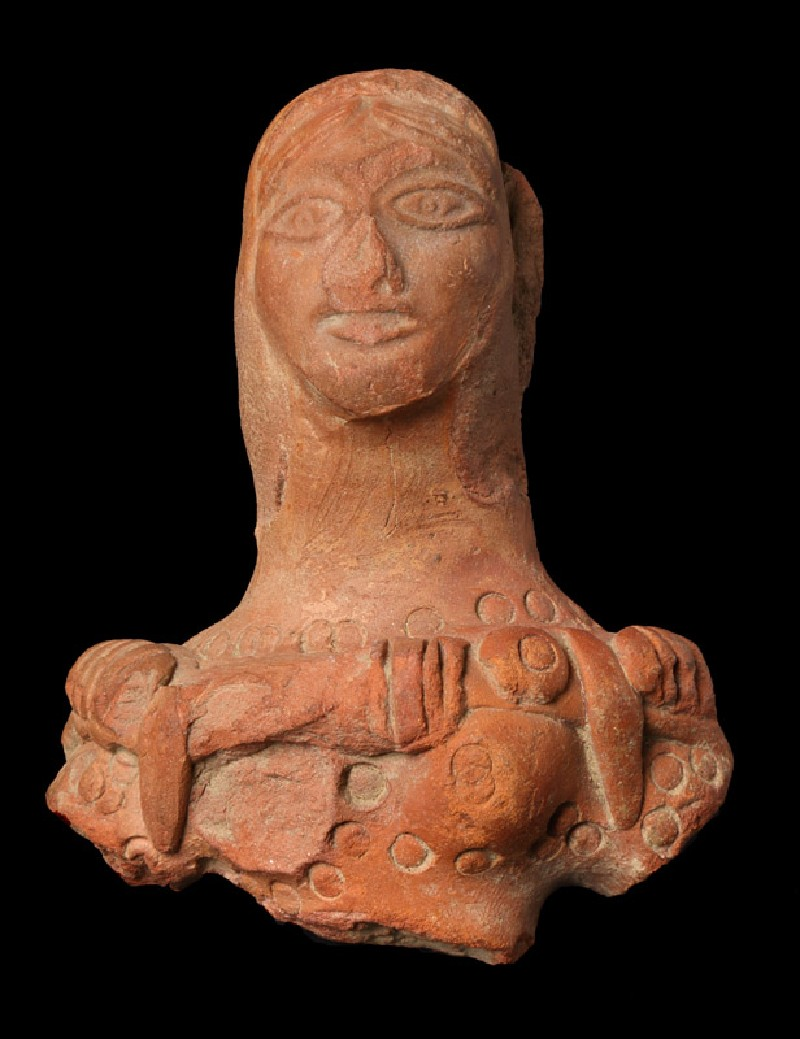 Bust of a female figure (front         )