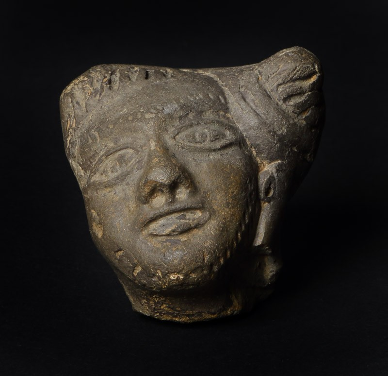 Head of a male figure (EAX.199, front         )