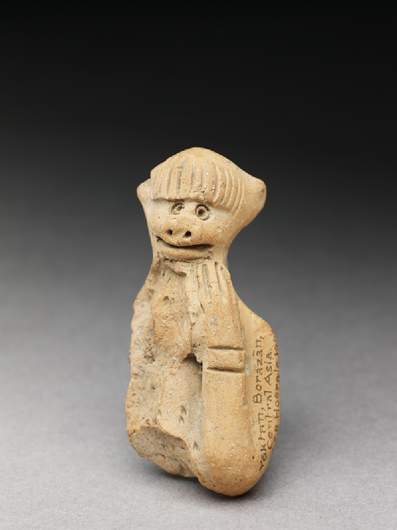 Terracotta figure of a monkey