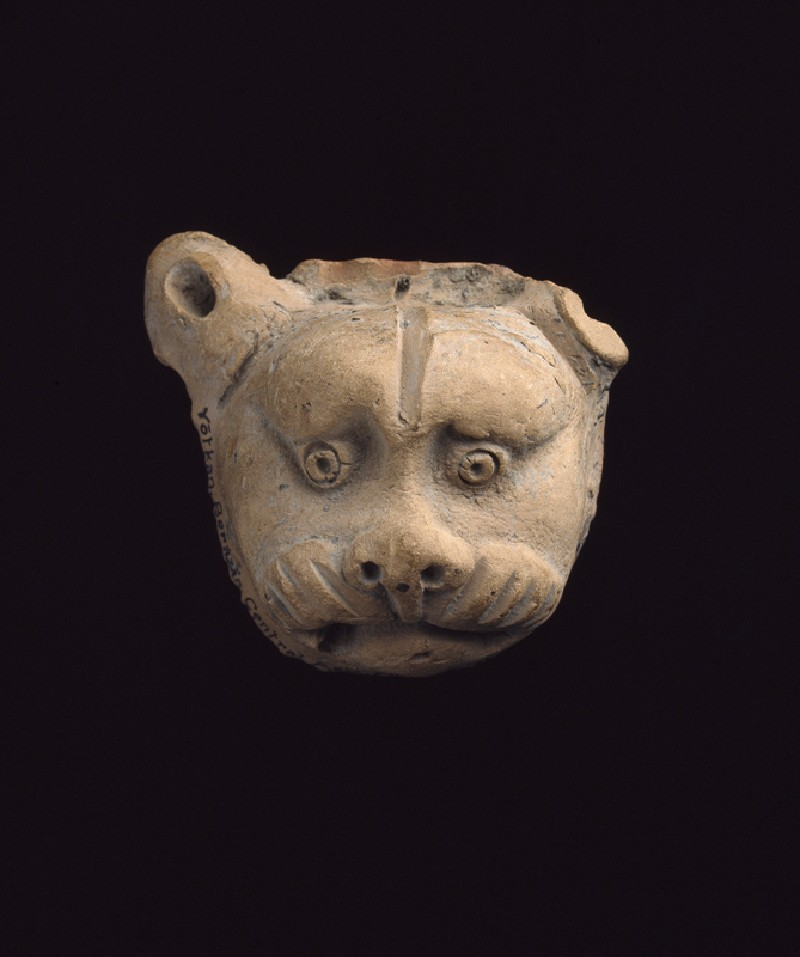 Lion mask from a vase (EAX.66, front        )
