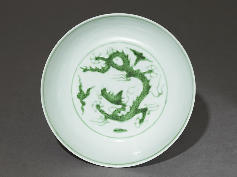Dish with dragon (top          )