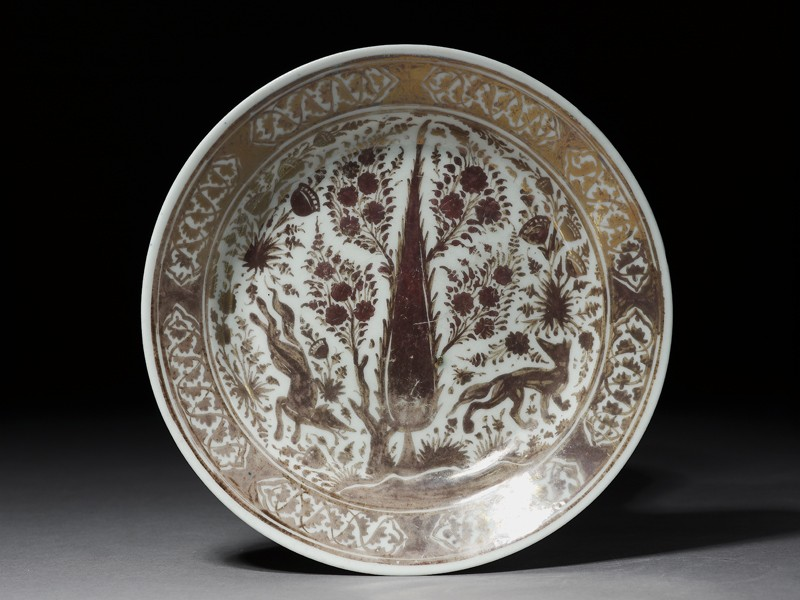 Dish with foxes (top          )