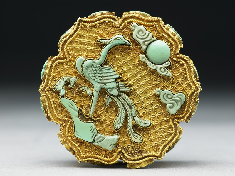 Box with phoenix and emblems of eight Taoist Immortals (EAX.1321, top          )