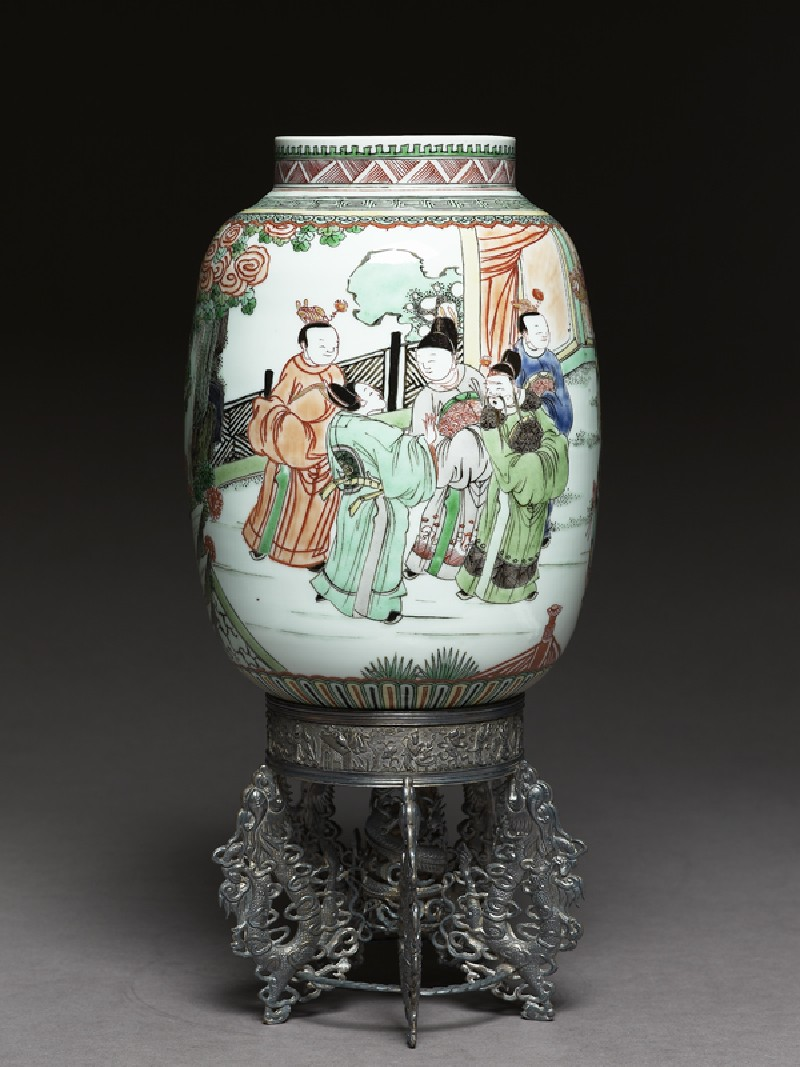 Lantern with figures in a garden (EAX.1503, side          )