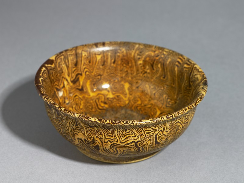 Bowl with marbled decoration (EAX.1958, oblique          )