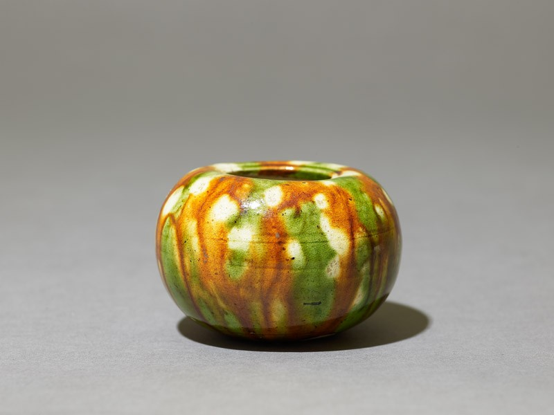 Jar with three-colour glaze (EAX.1967, oblique          )