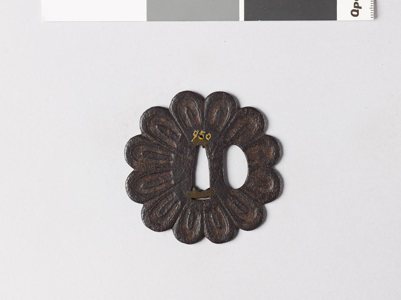 Tsuba in the form of a chrysanthemum (EAX.10005, front           )