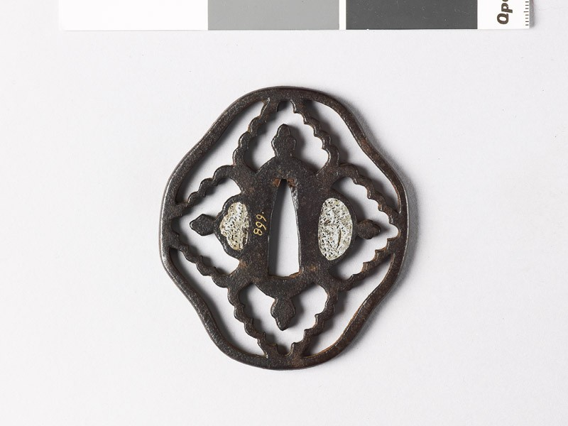 Tsuba with karahana, or Chinese flowers