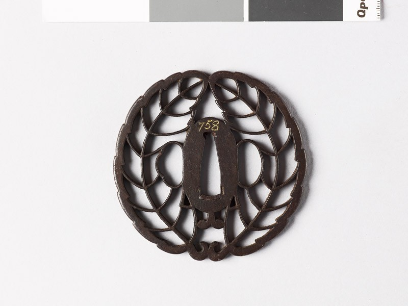 Tsuba with mon crest of the Hachisuka family (EAX.10021, front           )