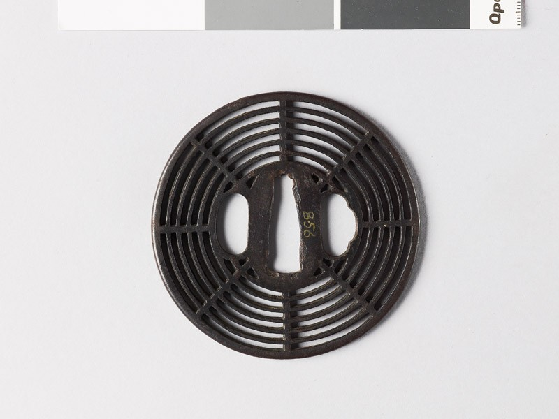 Round tsuba with cobweb design (EAX.10031, front           )