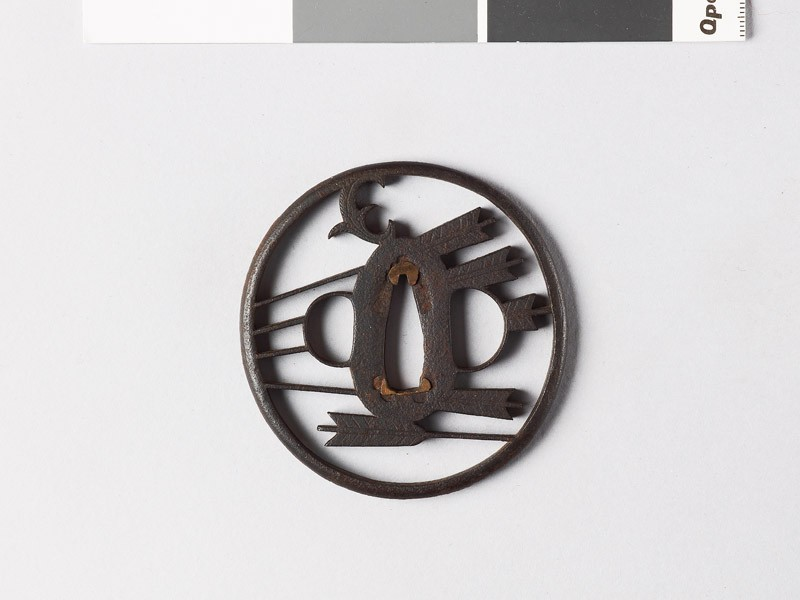 Tsuba with arrows and myōga, or ginger shoots (EAX.10035, front           )