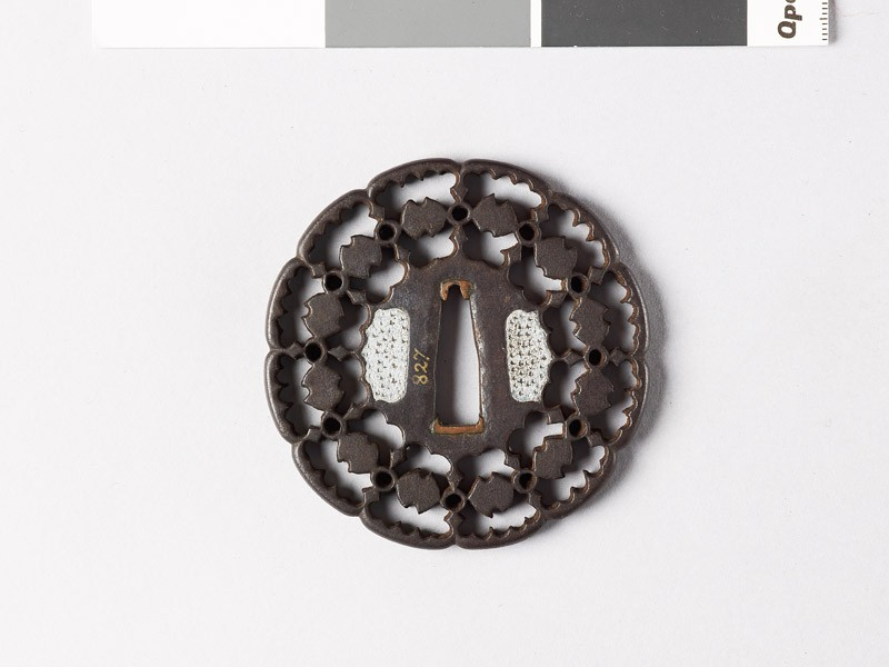 Tsuba with fundō weights and circles (front           )