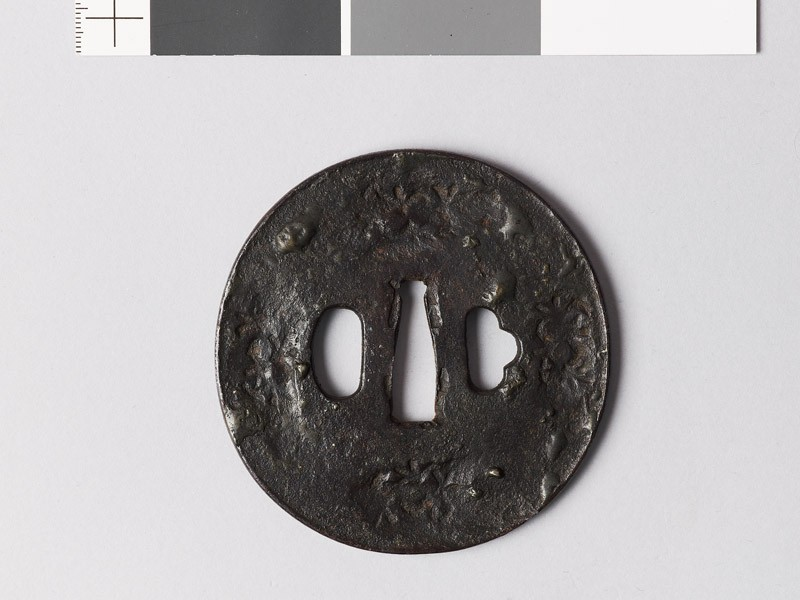 Tsuba with star forms (EAX.10061, front           )