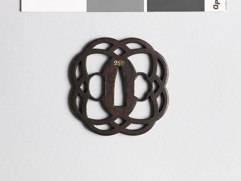 Tsuba with interlaced loops