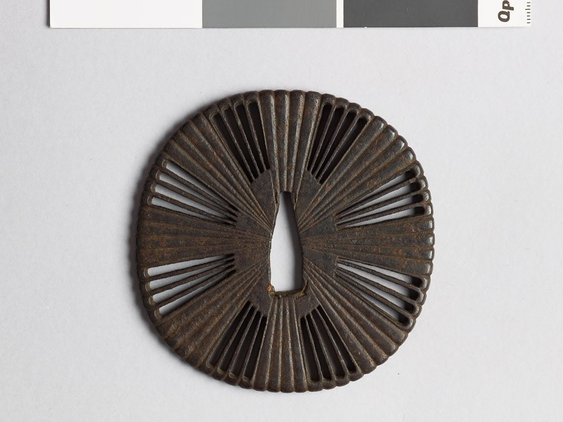 Tsuba with chrysanthemum florets (EAX.10101, front           )