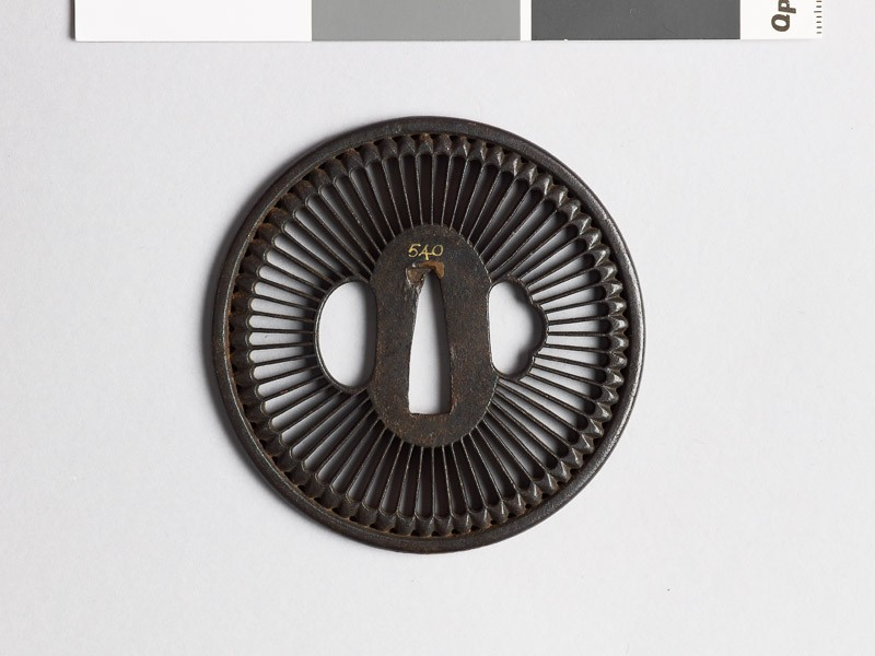 Round tsuba with chrysanthemum florets (EAX.10102, front           )