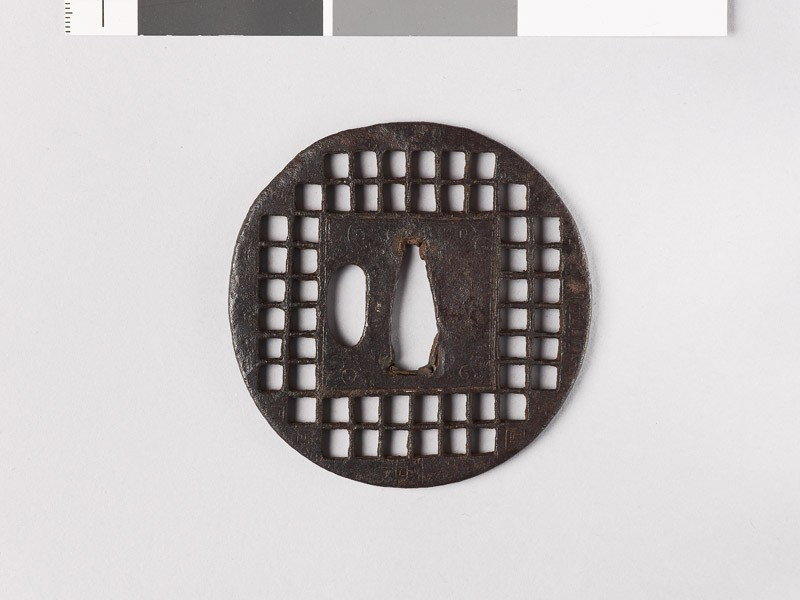 Tsuba with chequer pattern (EAX.10137, front           )