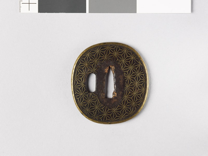 Tsuba with asanoha, or stylized hemp leaves (EAX.10154, front           )