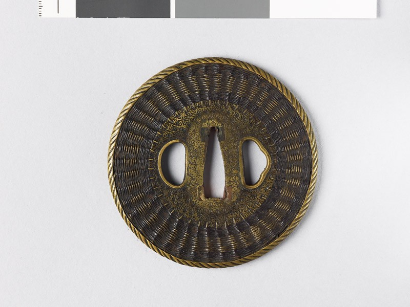 Tsuba with basketwork decoration (EAX.10181, front           )