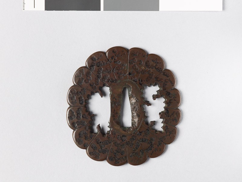 Lobed tsuba with florets (EAX.10185, front           )