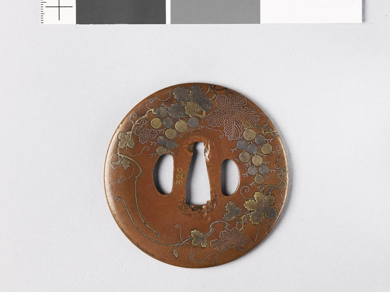 Tsuba with grape vine (EAX.10225, front           )