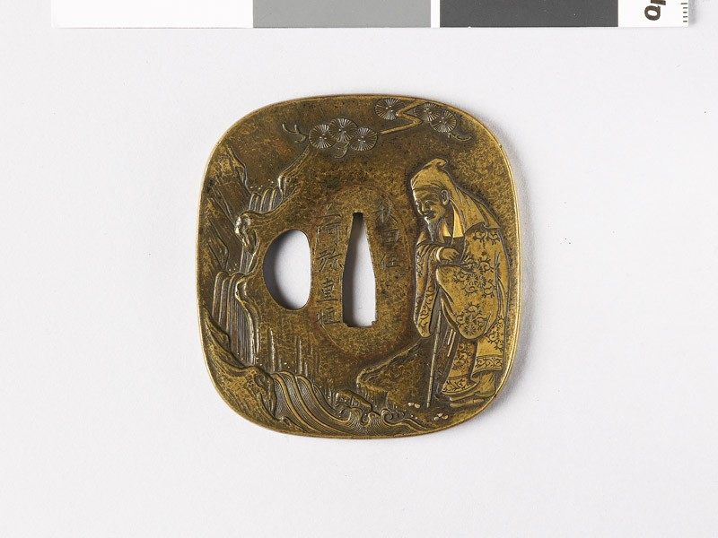 Tsuba depicting the Chinese poet Li Po (EAX.10271, front           )