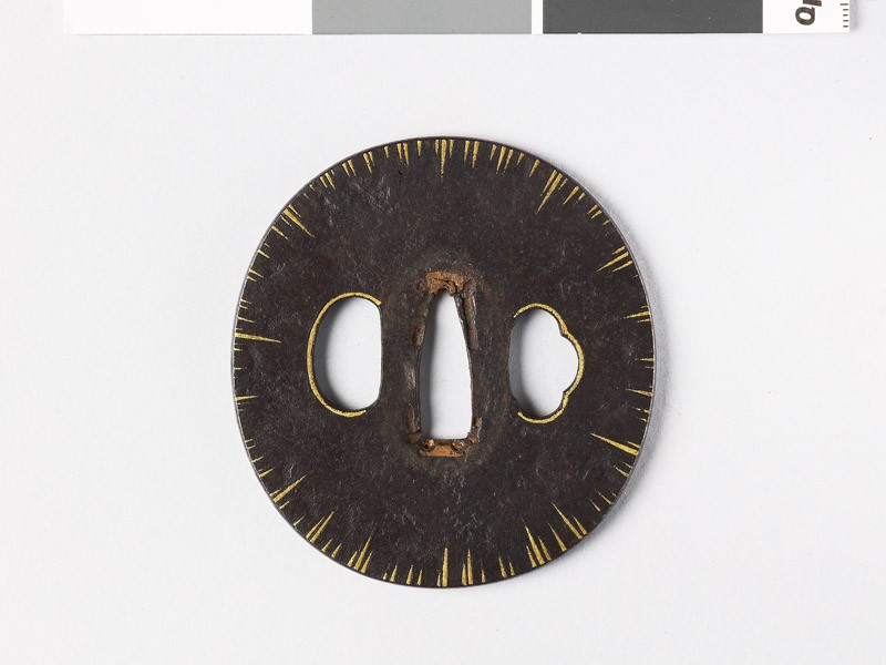 Tsuba with gold striations (EAX.10275, front           )