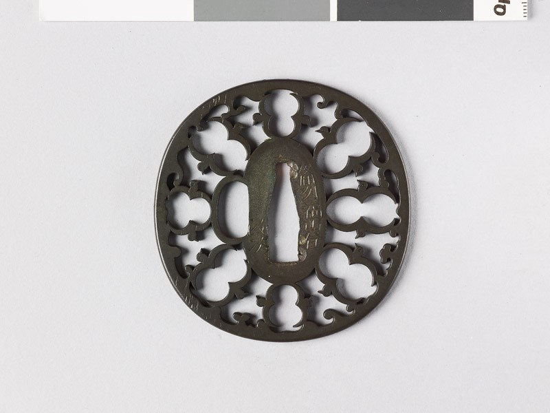 Tsuba with karigane, or flying geese (front           )