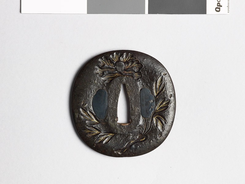 Tsuba with peonies (front           )