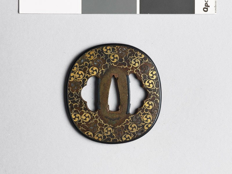 Tsuba with mitsudomoye, or three-comma shapes (EAX.10317, front           )