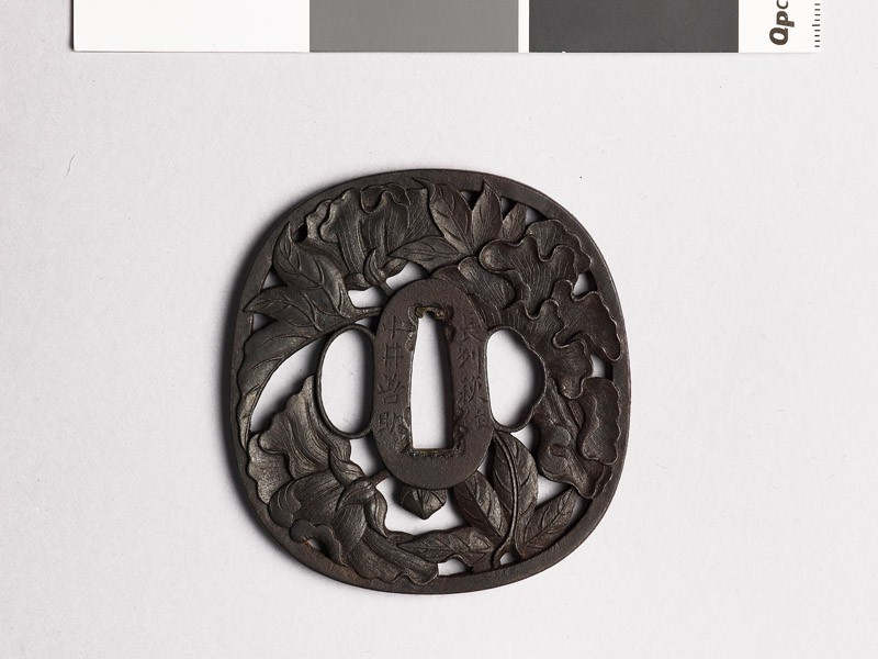 Tsuba with peonies (EAX.10322, front           )