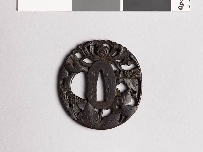 Tsuba with chrysantheumums (EAX.10341, front           )