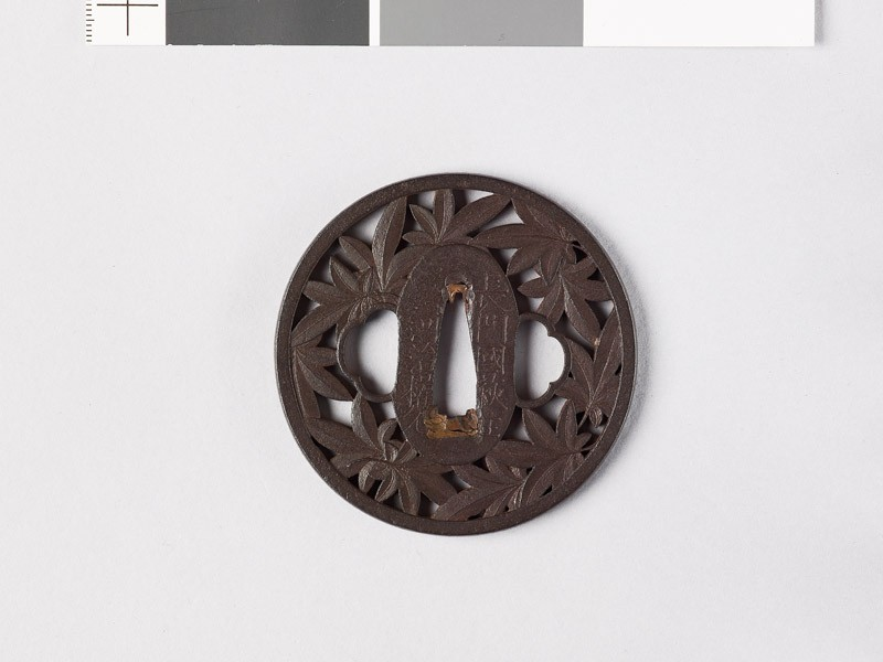Tsuba with maple leaves (EAX.10357, front           )