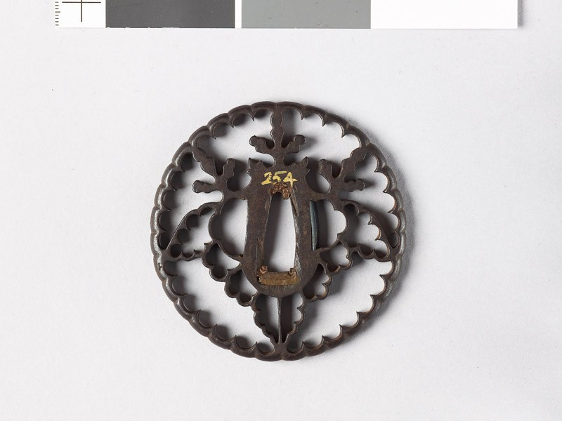 Tsuba with gosan-no-kiri, or paulownia leaves (EAX.10664, front           )