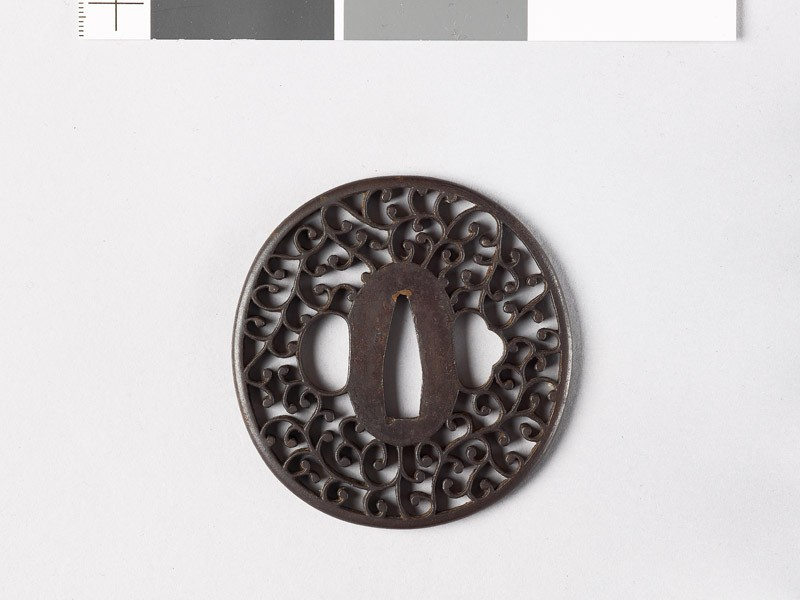 Tsuba with scrolling stems (EAX.10700, front           )