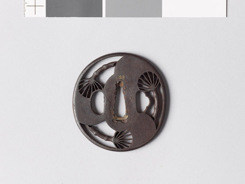 Tsuba with three fans (EAX.10732, front           )