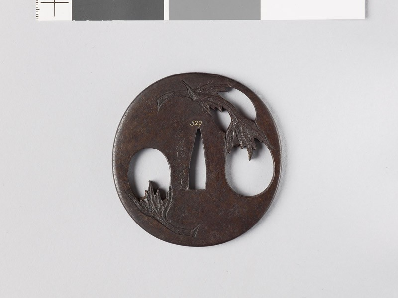 Tsuba with egg fruits