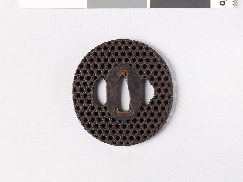 Tsuba with basketwork decoration (EAX.10817, front           )