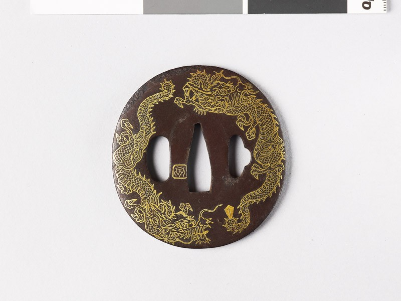 Tsuba with three dragons (EAX.10860, front           )