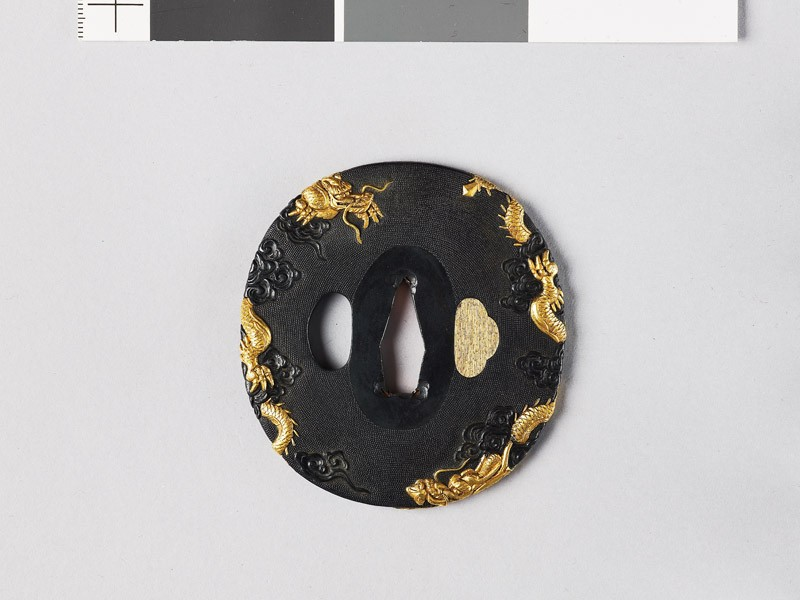 Tsuba with dragons (EAX.10889, front           )